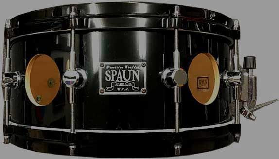 Прокат Spaun 6x14 Vented Maple Snare in Black on Black w/ Gloss Lacquer